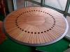 Table haute bois et métal